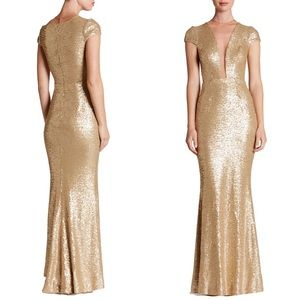• Dress the Population Michelle Sequin Gown •